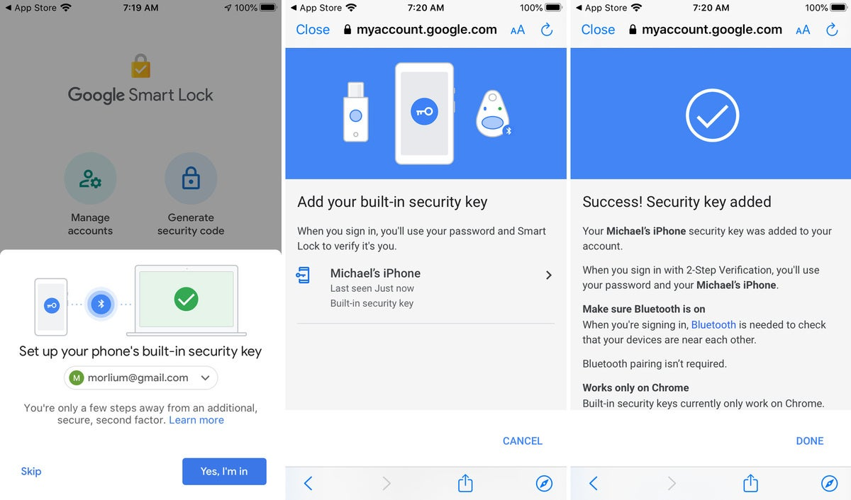 google smart lock iphone