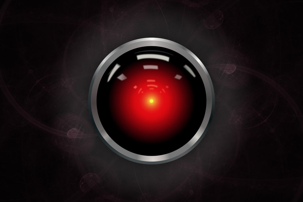 HAL9000-like red optical sensor / lens / eye [artificial intelligence]