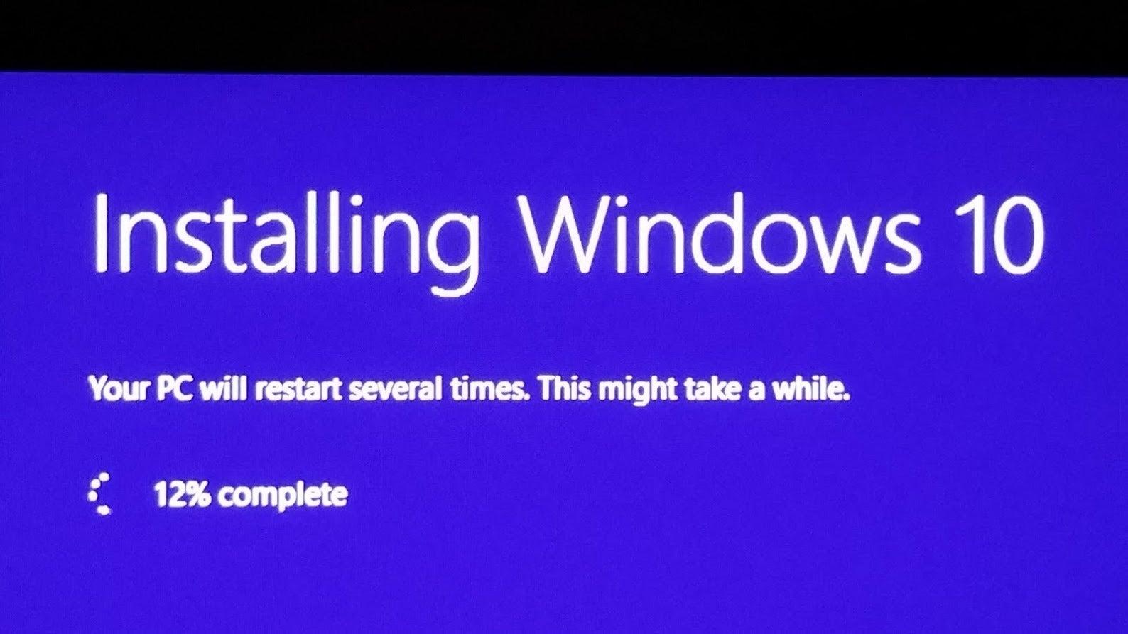 windows 10 version number installation download