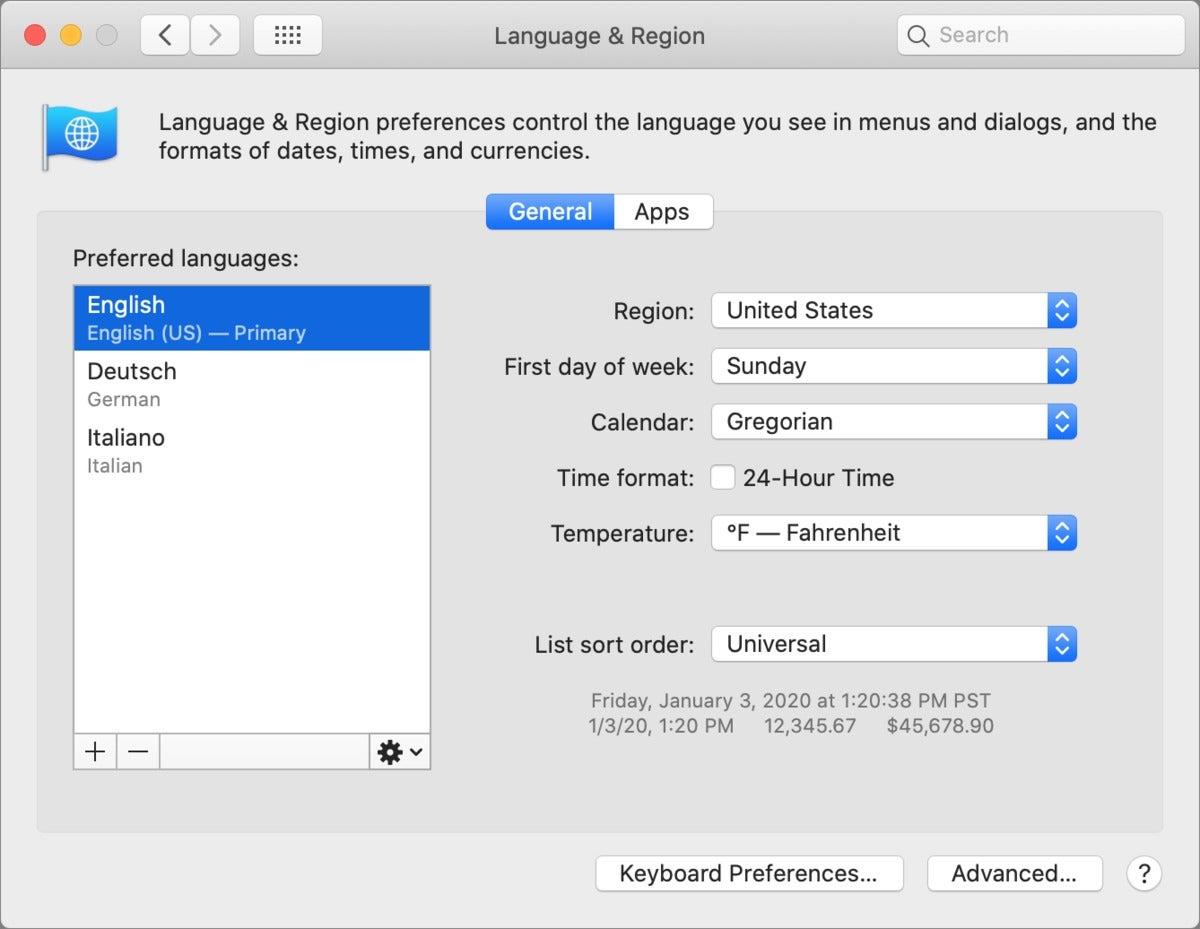 mac911 language region macos