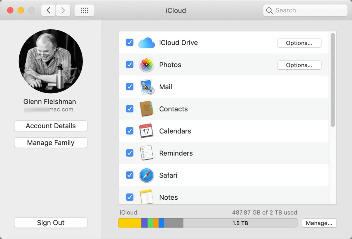 mac911 sign out icloud mojave