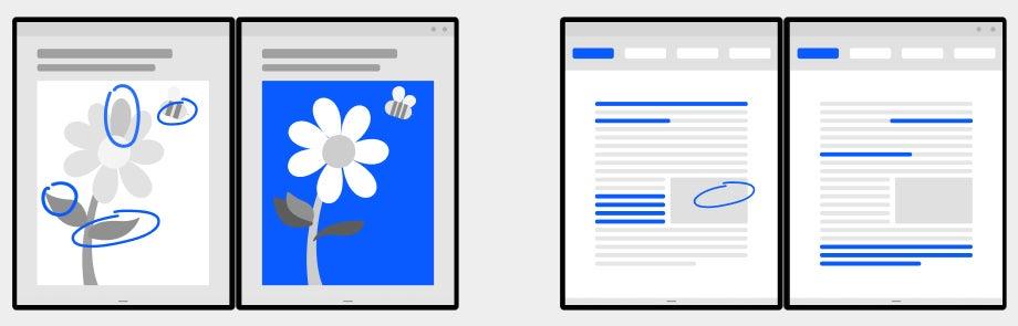 Microsoft Duo, Android: vista dual