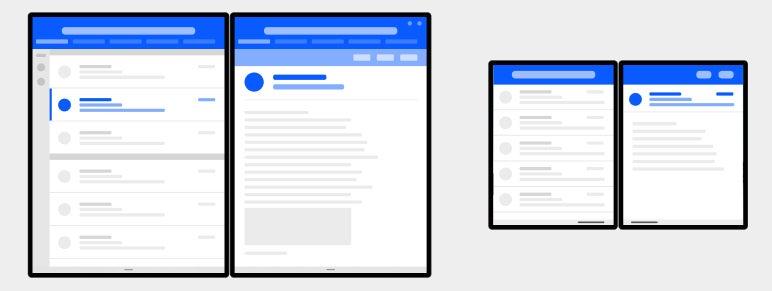 Microsoft Duo, Android: detalle maestro