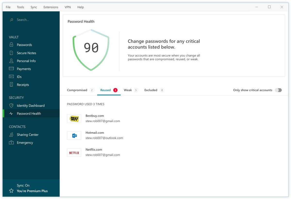 password health desktop windows