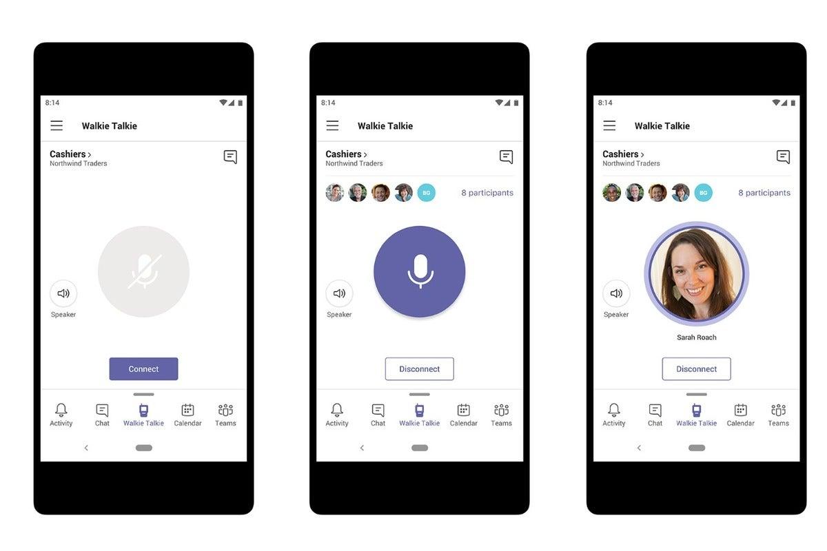 Microsoft walkie talkie teams