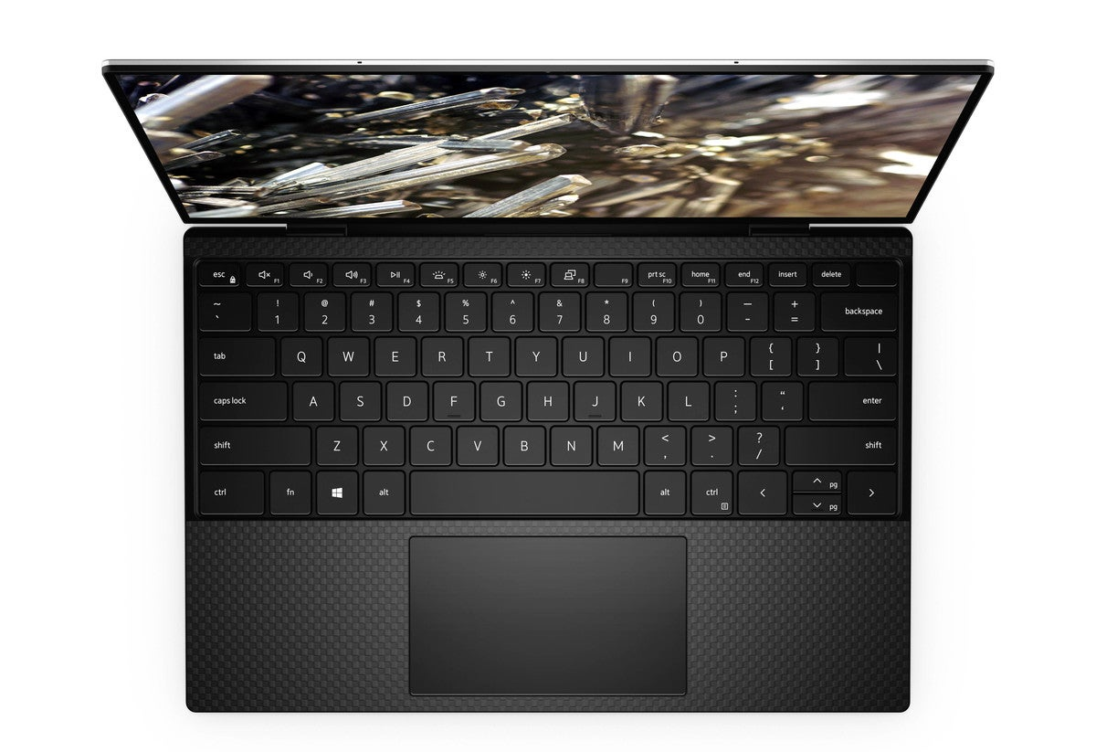 xps 13 black keyboard view v2