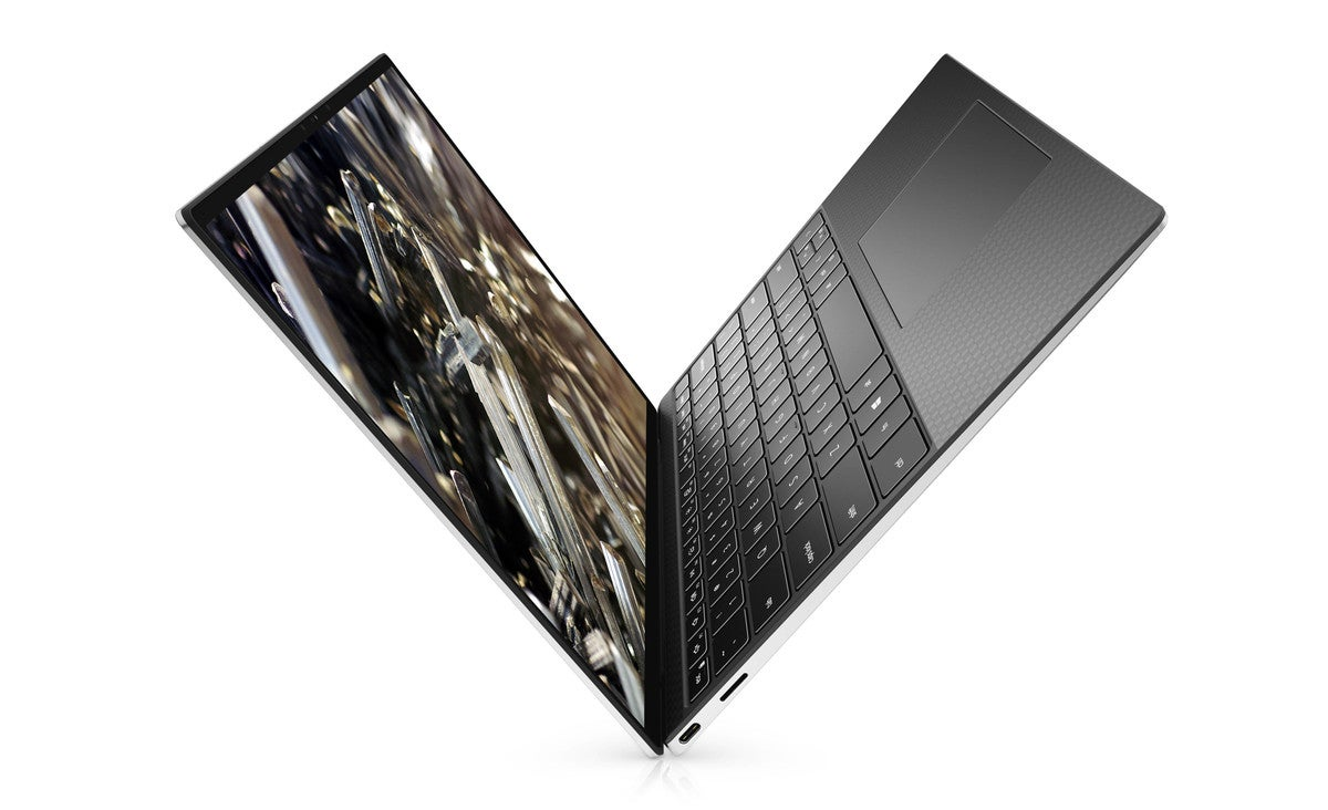 xps 13 black open up keyboard and display left view v2