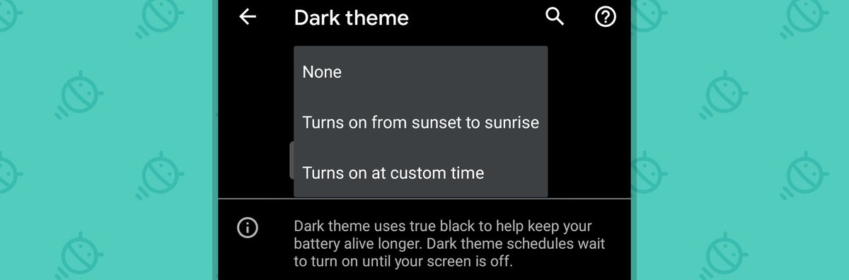 Android 11: Dark Theme Schedule