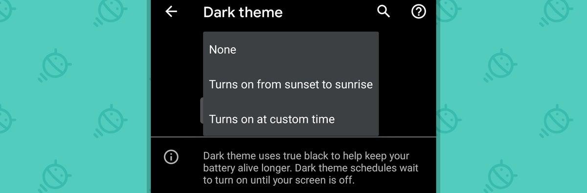 Android 11: Programación del tema oscuro
