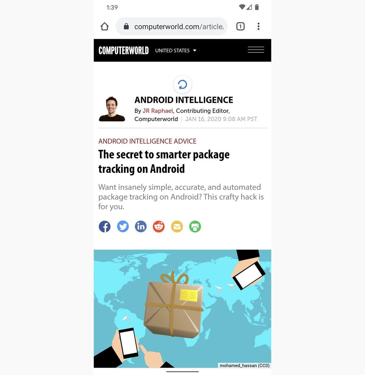 los atajos de Android actualizan Chrome 2020