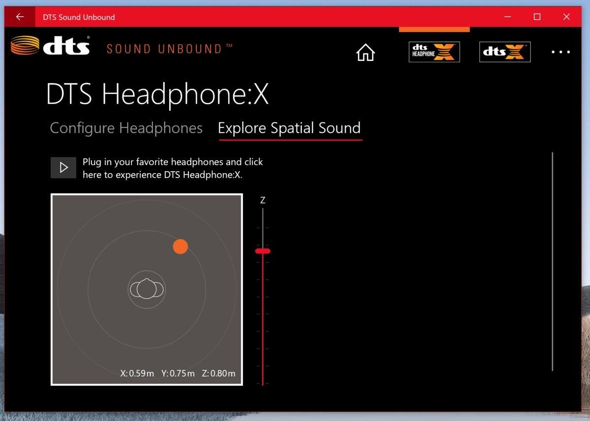 dts sound unbound app Microsoft Surface Pro 7