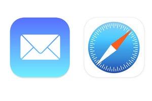 ios mail safari icons
