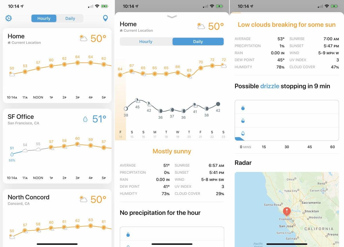 iphone weather weatherline
