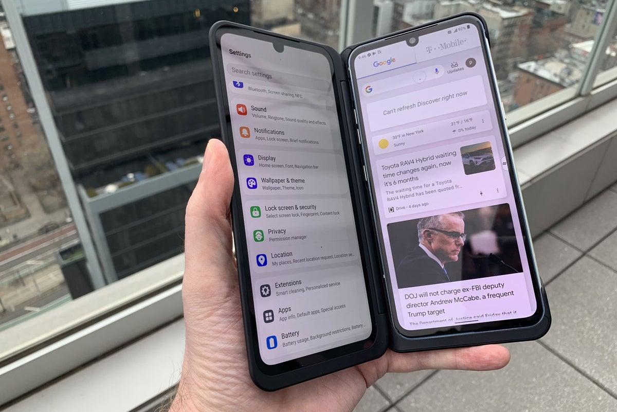 lg v60 dual screen apps
