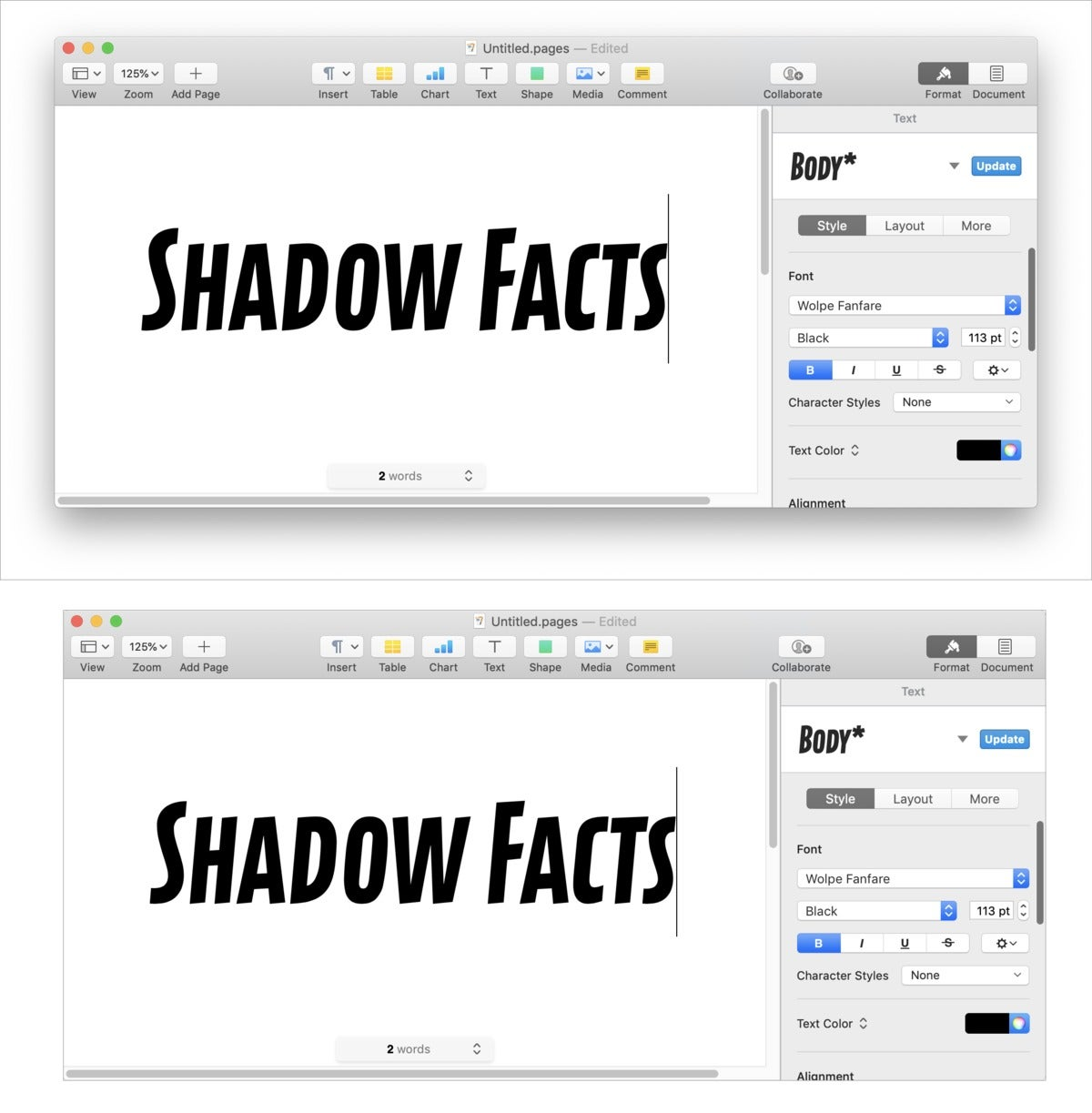 mac911 drop shadow macos