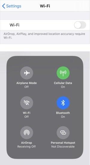 mac911 wifi control center settings