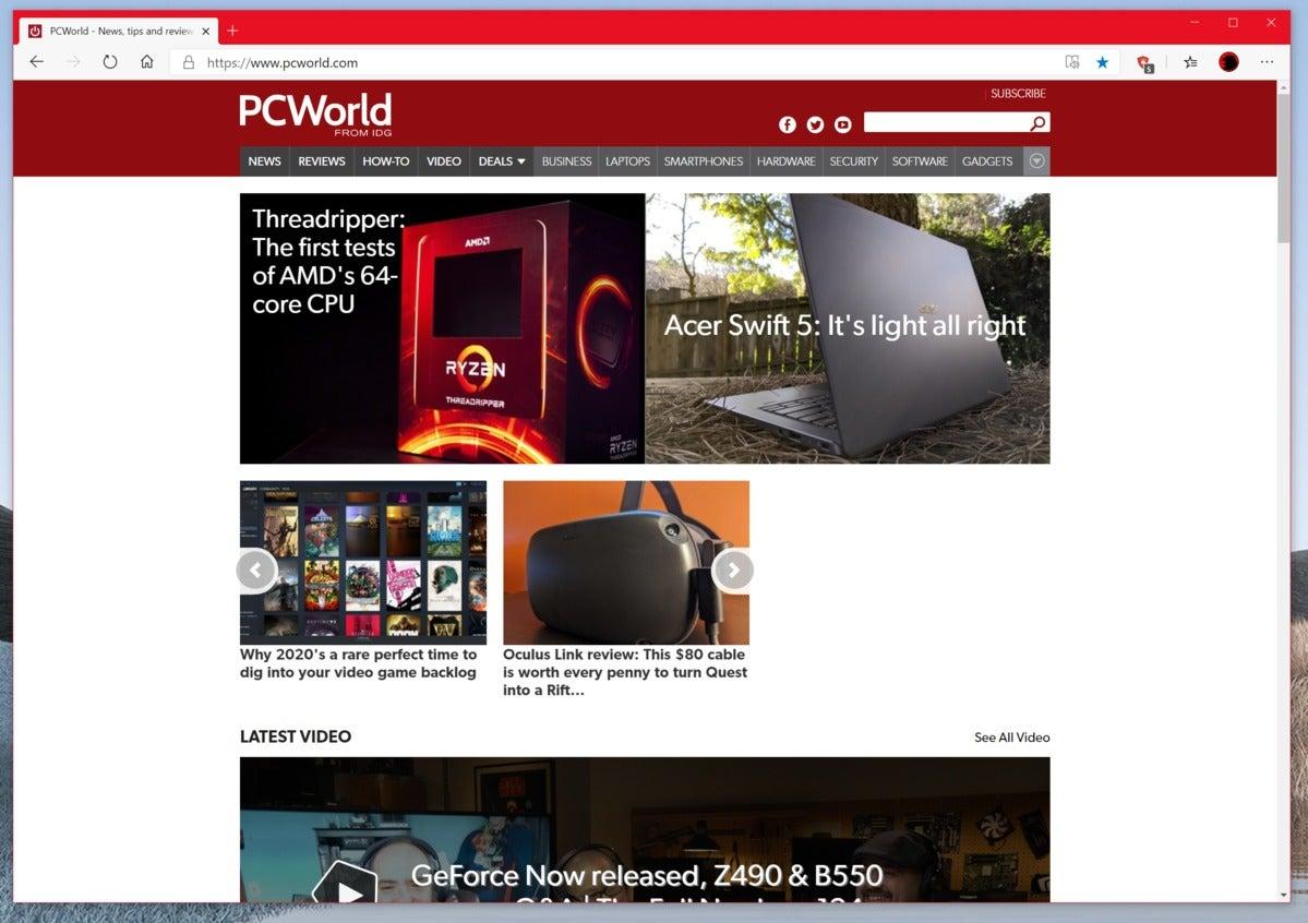 microsoft new edge pcworld homepage