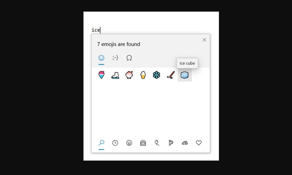 microsoft windows 10 20h1 emoji 12