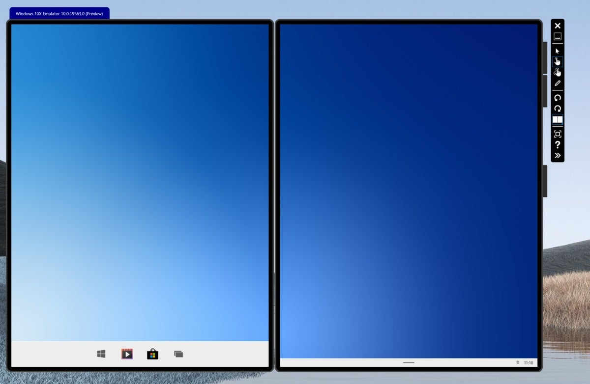 microsoft windows 10x taskbar