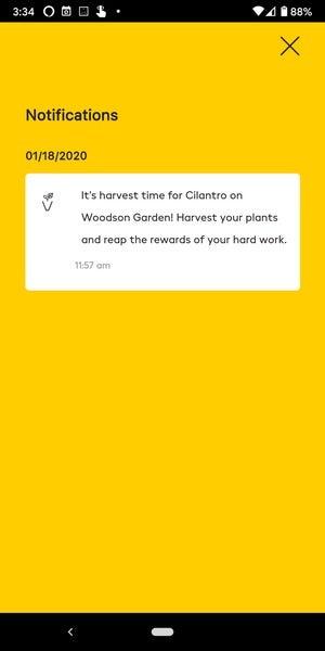 miracle gro harvest notification