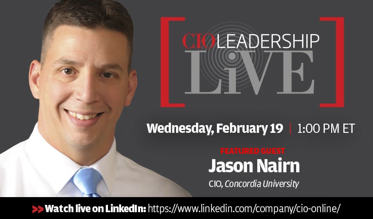 CIO Leadership Live, Wednesday, Feb 19