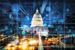 USA / United States Capitol Building / Congress / abstract digital infrastructure