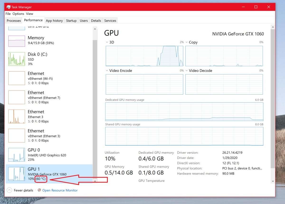 Monitor cpu and gpu temp in game