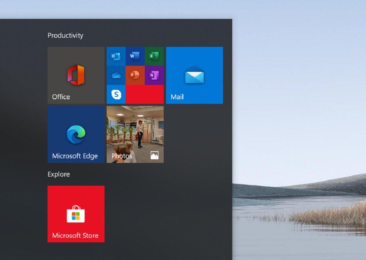 windows 10 20h1 icons in start menu