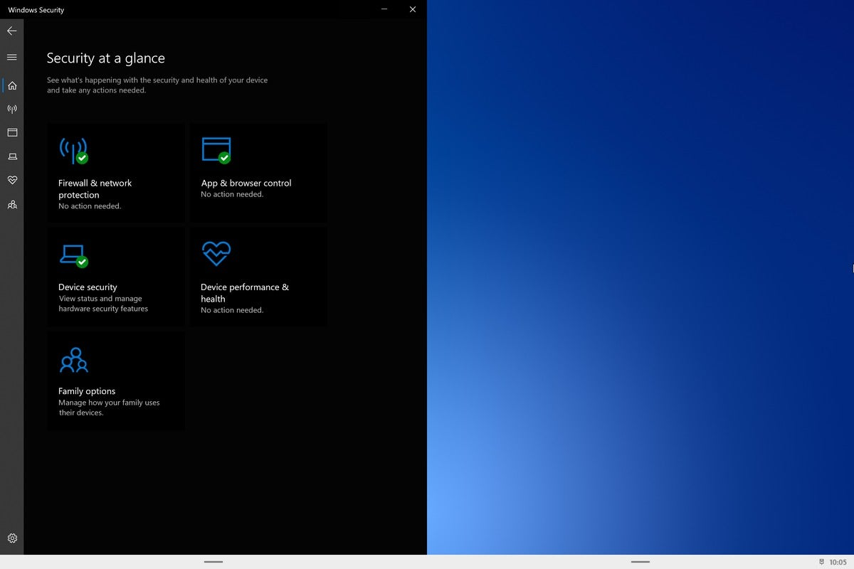 Microsoft windows 10x windows security