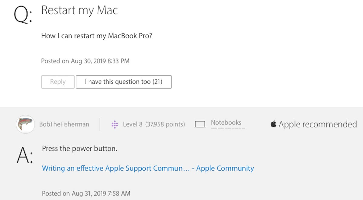 apple support communities site