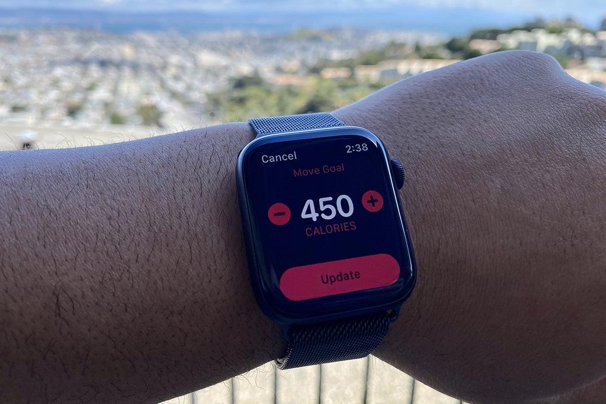 apple watch move ring adjustment