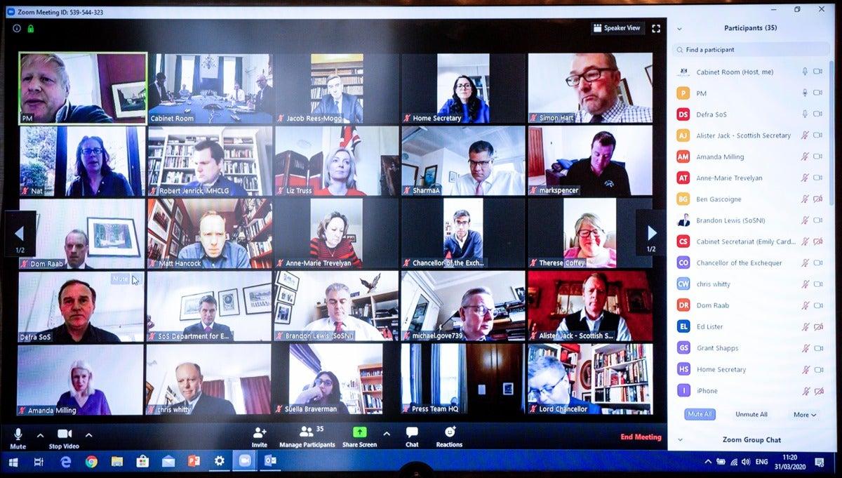 boris johnson zoom ID de reunión personal