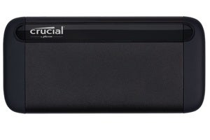 crucial x8 ssd flat front