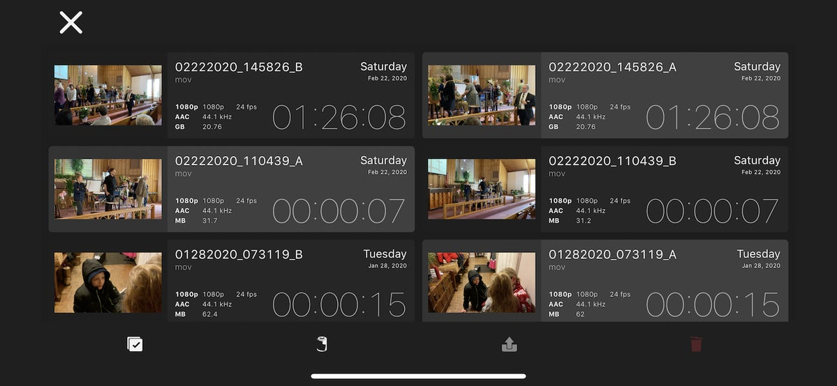 doubletake by filmic pro library