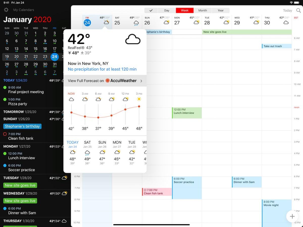 fantastical 3 ipad weather