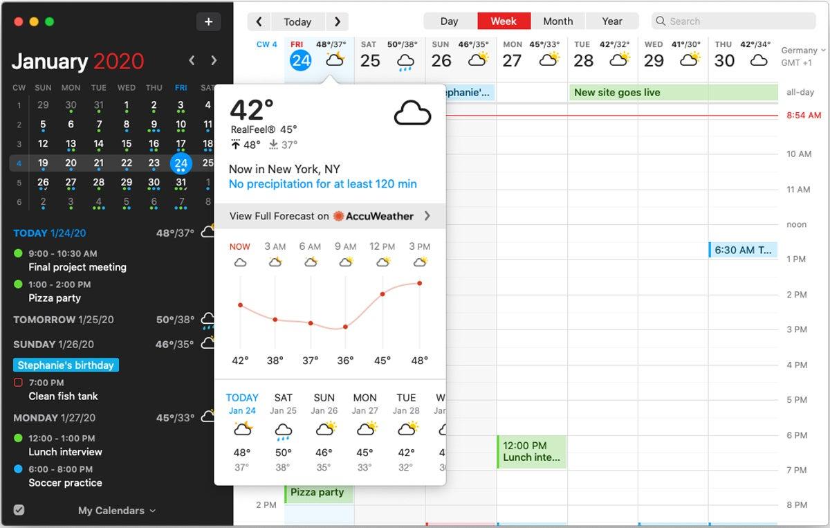 fantastical 3 macos weather forecast