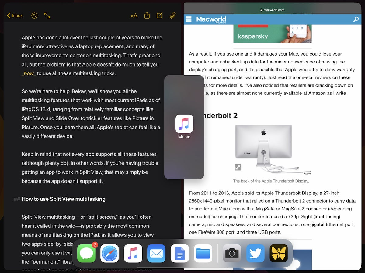 ipad multitasking three apps