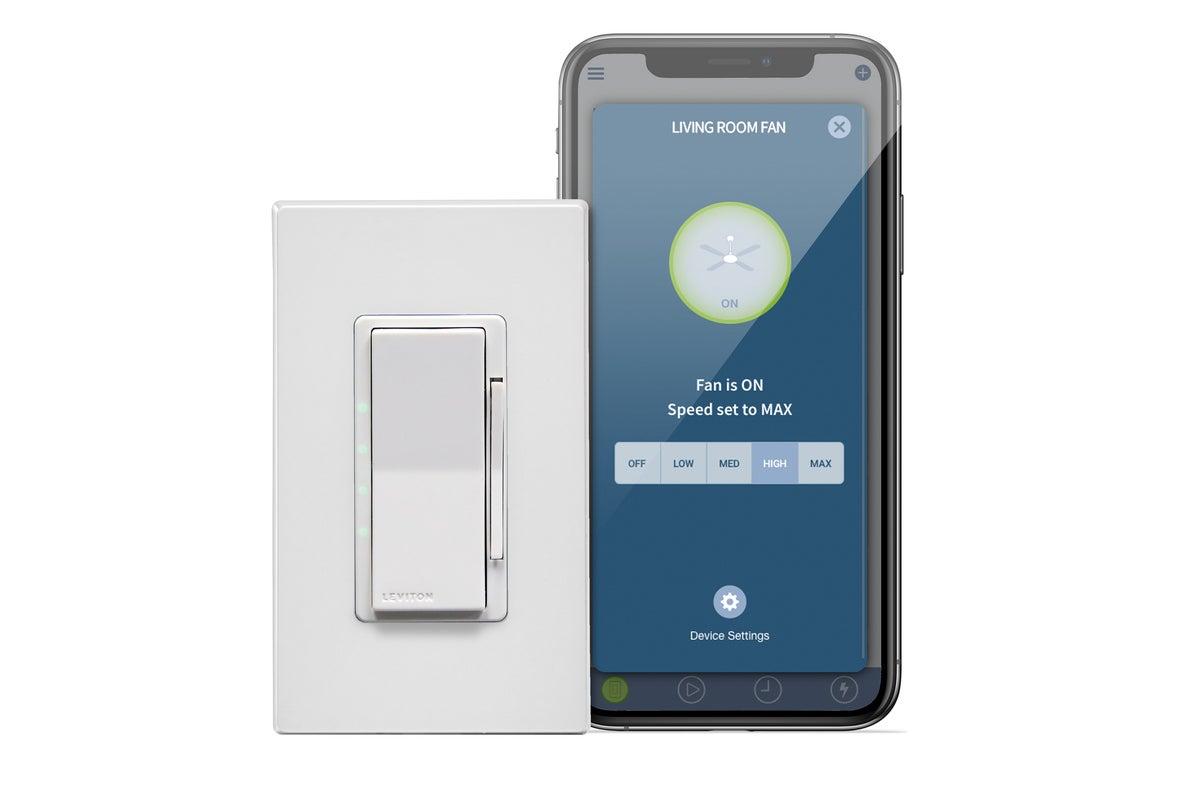 Đánh giá Wi-Fi thông minh Leviton Decora 4-Điều khiển quạt tốc độ: Không yêu cầu trung tâm 3