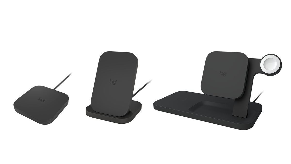 logitech powered wireless charger family black