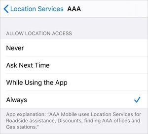 mac911 always allow ios location tracking settings