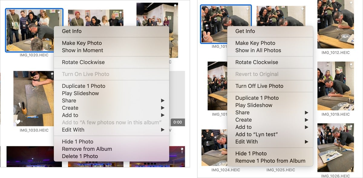 mac911 old new photos delete album