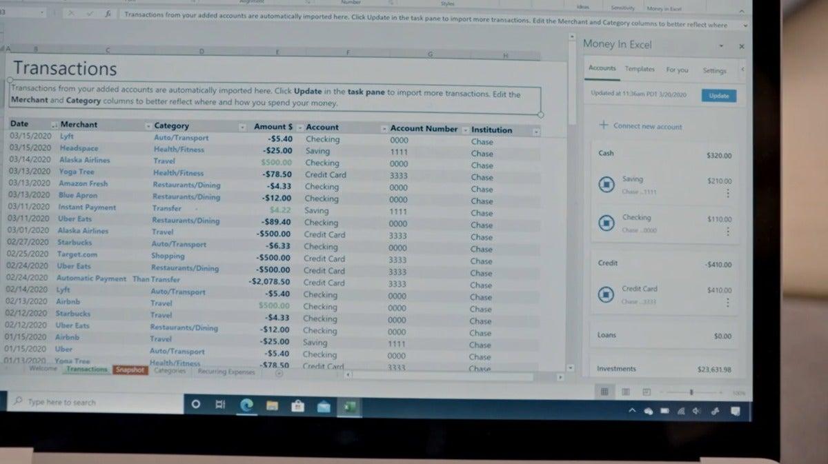 Microsoft Excel Money