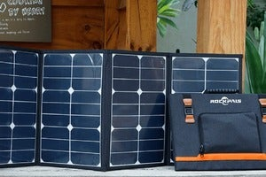 Save up to 26% off on a foldable solar panel charger for your gear