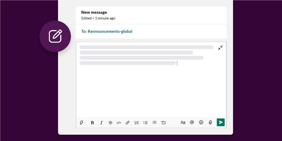 slack march2020 actualizar redactar pantalla