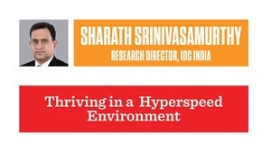 Sharath Srinivasamurthy, Research Director – Software, Services and ICT Practices, IDC India