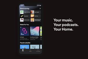 spotify mobile personalized home page