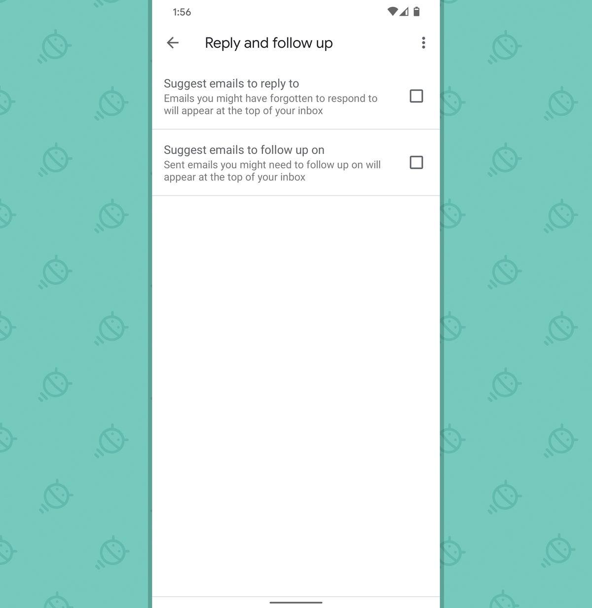 Aplicación de Gmail para Android: Nudges