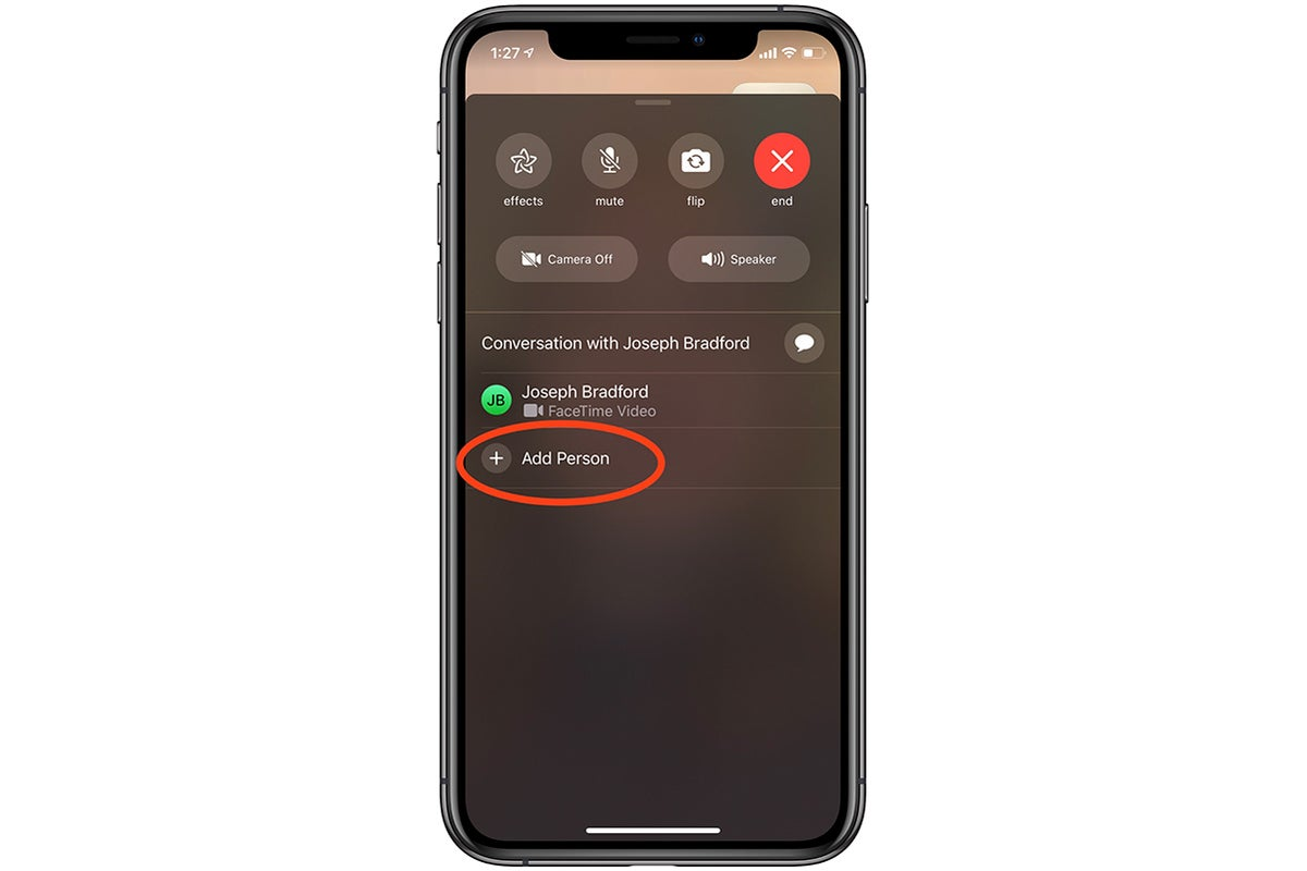 adding person to facetime call