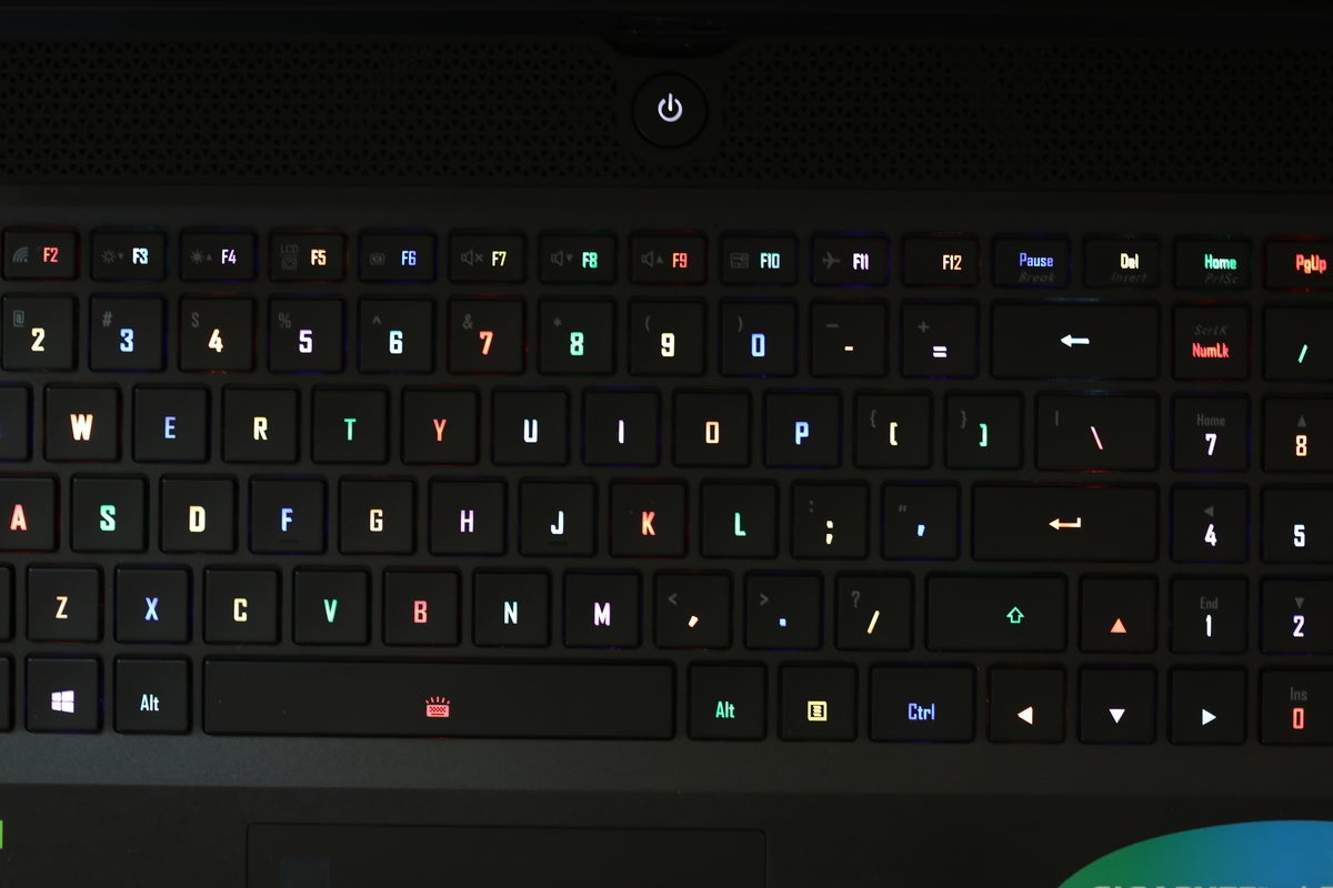 aero 17 keyboard