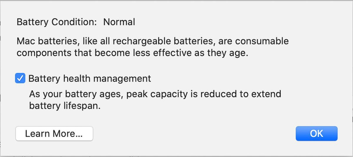 catalina battery health management system preference
